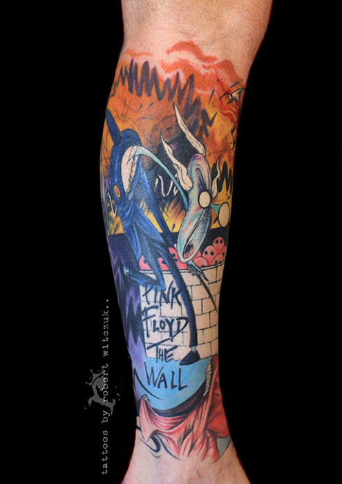 the gallery for pink floyd the wall tattoo. Black Bedroom Furniture Sets. Home Design Ideas